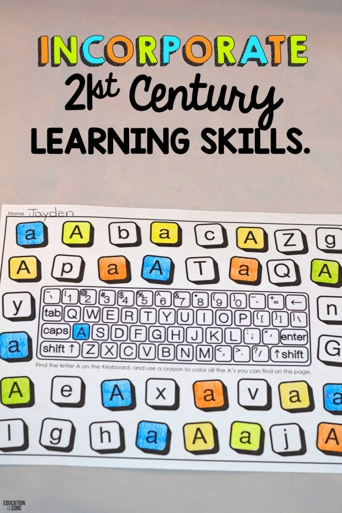 10 Strategies for Teaching Letters and Sounds: 3.  Incorporate 21st century learning skills while learning the alphabet.