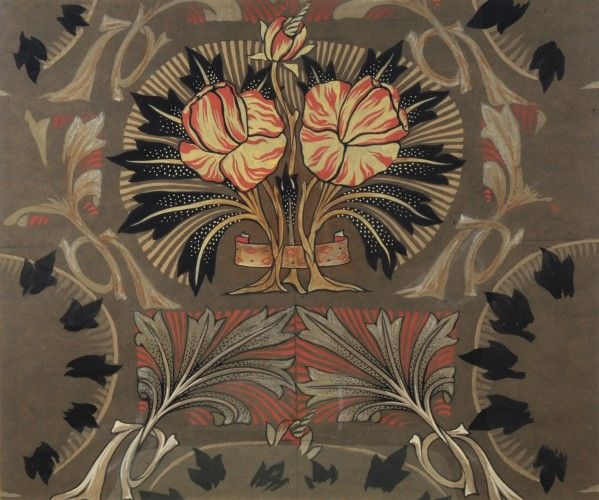Arts and Crafts floral design by Arthur Heygate Mackmurdo- Many of these designs still look so fresh to me. Love the neutrals with a bit of pink.