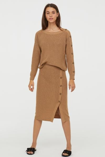 812a4efac7c ... Clothing   Fashion. Knit Skirt - Camel - Ladies