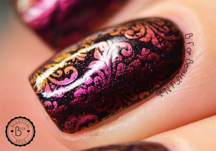#nailart using our #LimitedEdition #Galaxy by #BlovesPlates  <3 #stamping #manicure #mani #nails #nailpolish #nailcolor