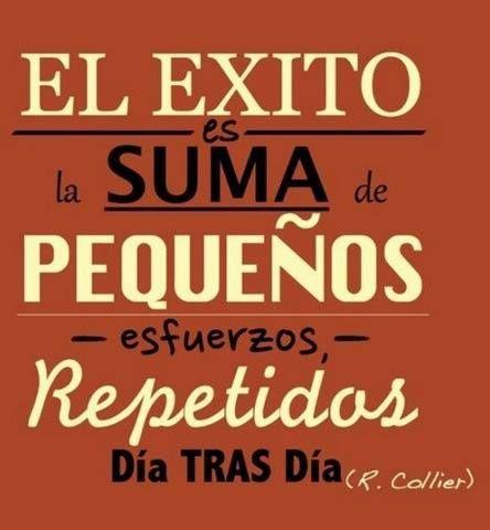 El éxito es la suma de pequeños esfuerzos repetidos día tras día. #Frases #esfuerzo