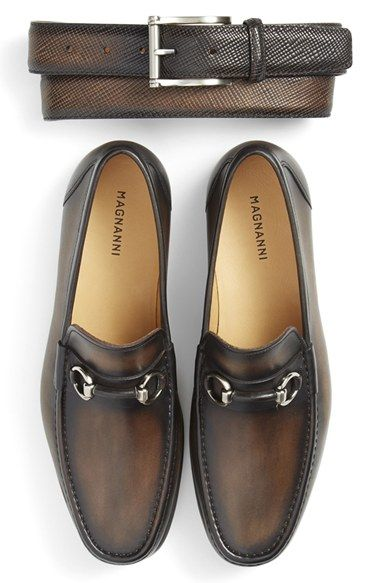 Magnanni Belt & Bit Loafer (Men) available at #Nordstrom