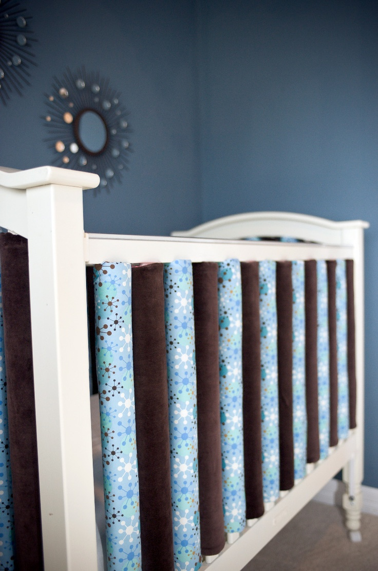 vertical crib bumpers. safer because each rail is padded ...