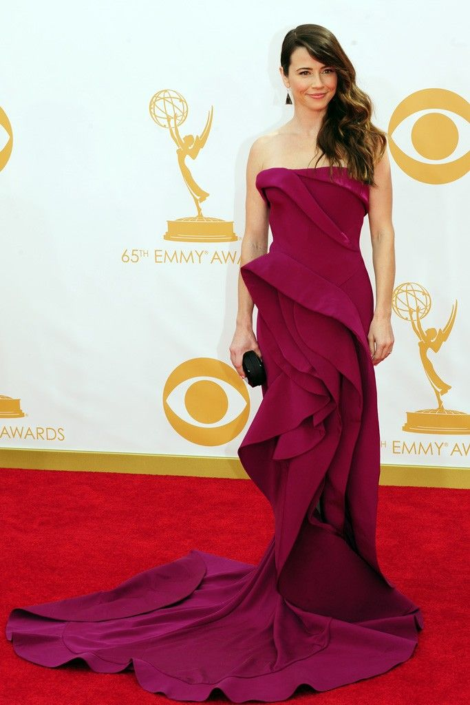 Linda Cardellini in Donna Karan On the Red Carpet at the 65th Primetime Emmy Awards [Photo by Amy Graves]