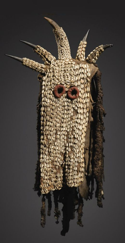 "A ""Yegue"" mask from the Ku'ngang society of the Bamileke people of Cameroon 