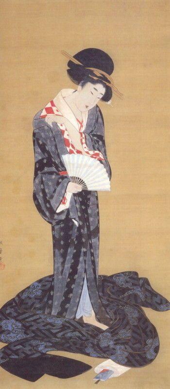 喜多川歌麿 Kitagawa Utamaro『更衣美人図』 - 出光コレクション - 出光美術館