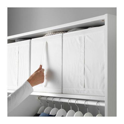 SKUBB Laatikko IKEA Kaikki kolme laatikkoa mahtuvat rinnakkain 100 cm leveään vaatekaapin runkoon. Kädensijan ansiosta helppo vetää esiin.