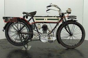 Triumph 3½HP free engine 1911 500cc 1 cyl sv