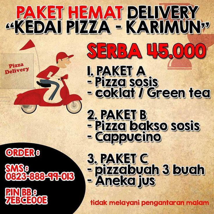 Selamat Sore Teman-teman sahabat pizzabuah.  Berhubung banyak permintaan untuk melayani delivery kami mencoba membuka jasa delivery khusus tanjung balai karimun  Hubungi : 0823-888-99-013  #kedaipizza #tanjungbalaikarimun #deliverypizza #karimun #pizzabuah #pizza