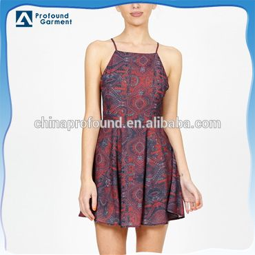 Source spaghetti strap ladies sexy latest dress designs printed dress pattern on m.alibaba.com