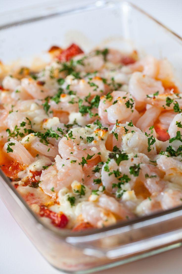 Shrimp, Feta and Tomato Bake Recipe
