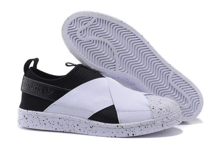 Adidas Originals Superstar Slip On Ausbildung Schuhe Schwarz/Weiß  S81339