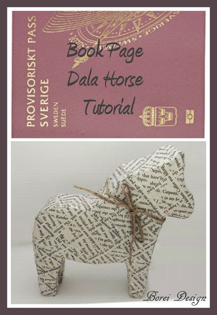 How to make a decorative Swedish Dala horse with an American twist using all recycled materials. Includes free printable pattern. #DIY #Craft #Tutorial