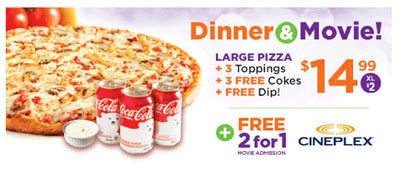 Pizza Pizza - Pizza and a Movie for $14.99