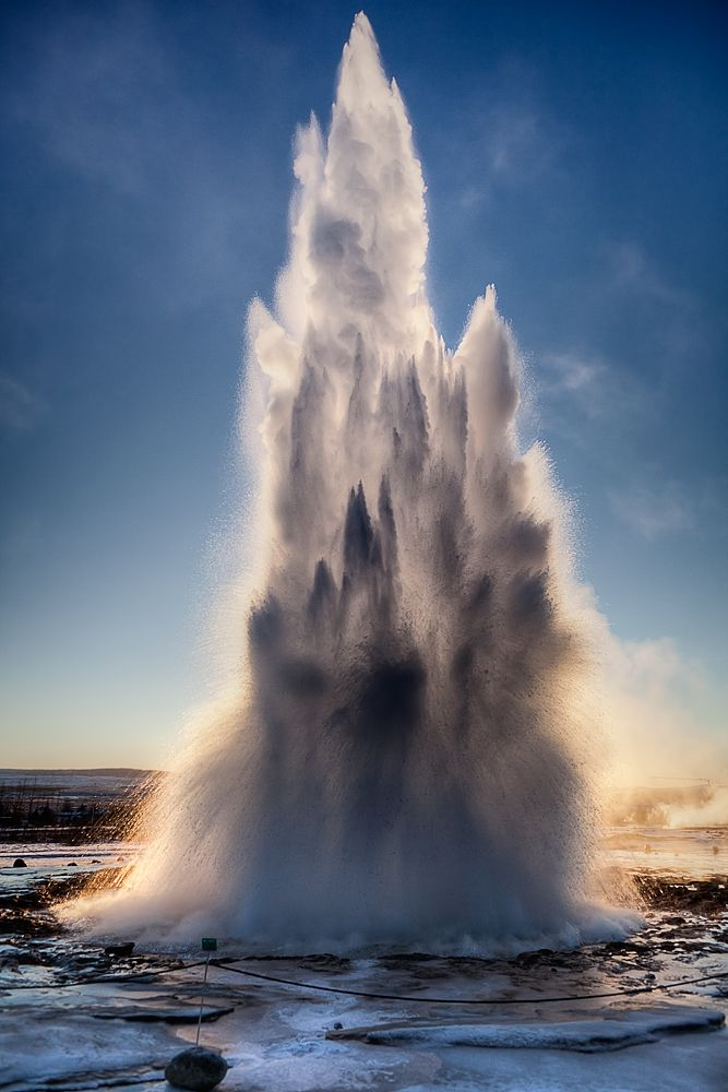Geysir is the spot in Iceland with the most active hot-springs and geysers. The name of the place actually gave us the word 'Geyser'. In Icelandic, 'Geysir' means 'to gush'… and indeed that is what they do. This attraction is one of the highlights on the Golden Circle Tour.