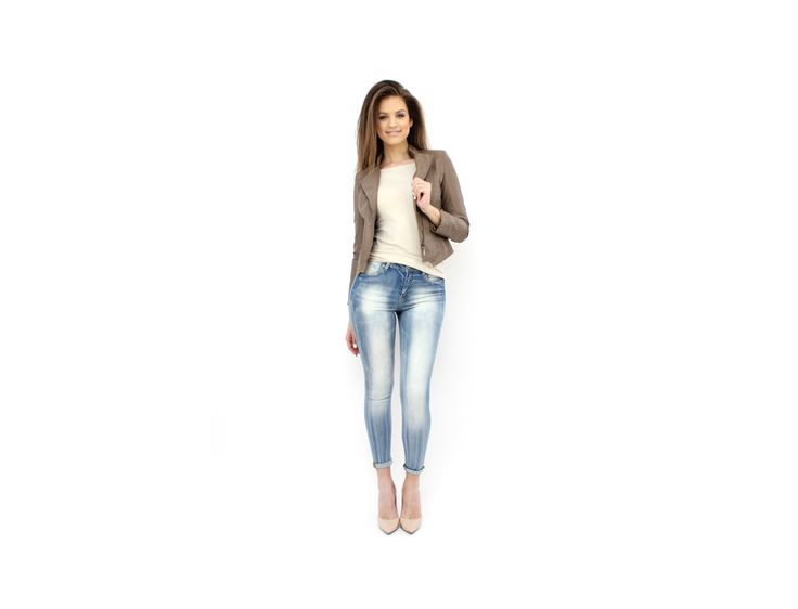 Jeanși Stilați cu Aspect Spălăcit - Jeanşi & Pantaloni - www.famevogue.ro - Chic Distressed Jeans  #distressed #jeans #pants #denim #style #fashion