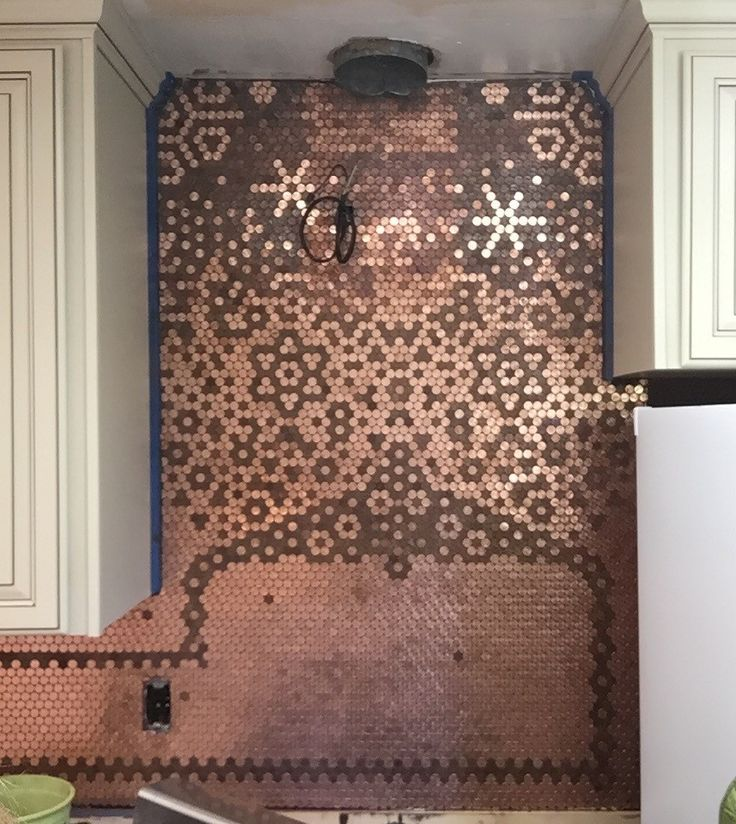 Carolyn's Creative Penny Backsplash in 2020 | Penny ...