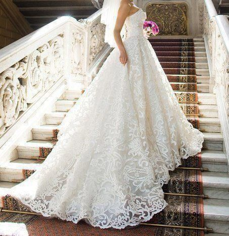 Lace wedding dress.  Just needs some sleeves