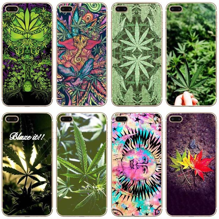 Weed Leaf Transparent Hard Thin Case Cover For Apple iPhone //Price: $8.28 & FREE Shipping //     #cannalovers