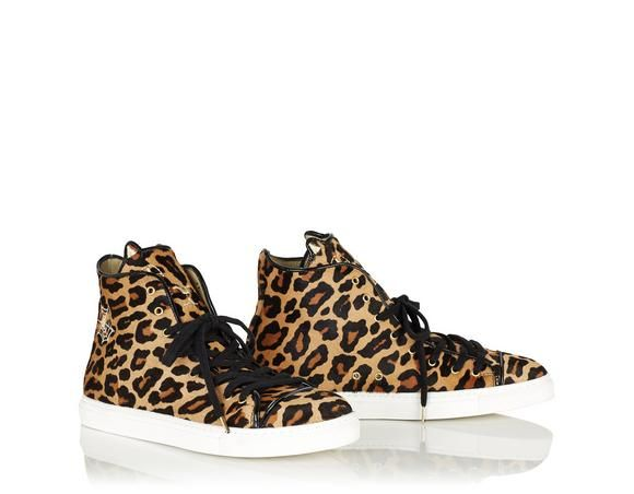 Charlotte Olympia Black & Off-White Distressed Suede Super High-Top Sneakers VxVRLDY