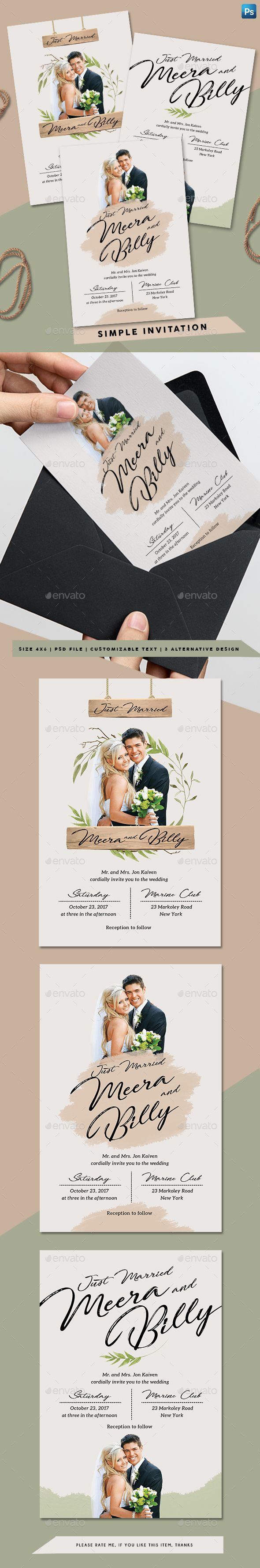 wedding invitations design template%0A Simple Invitation  Simple Wedding InvitationsInvitesInvitation  TemplatesInvitation