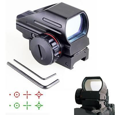 Red Green Dot Sight Scope Tactical Reflex Laser 20mm for Rifle Picatinny Rail #T