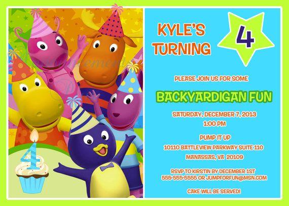 5x7 Backyardigans Invitation by AnnouncementsPlus on Etsy, $15.00