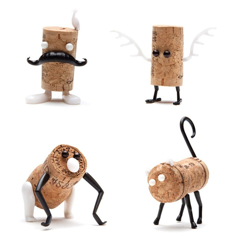 DIY cork stopper animals by reddish studio + oded friedland