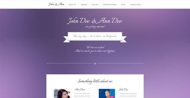 25+ Examples of Beautiful Wedding Invitation Websites