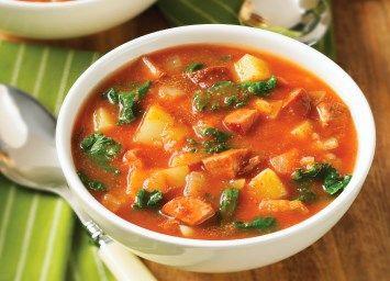 Fabulously delicious kale and chorizo soup.