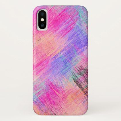 #Pastel Colored Abstract Background #9 iPhone X Case - #girly #iphone #cases
