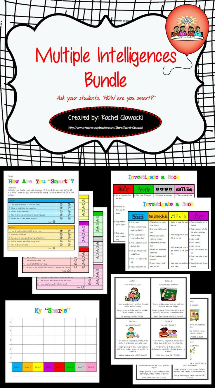39 best rachel glowackis tpt store images on pinterest teacher multiple intelligences bundle gamestrikefo Image collections