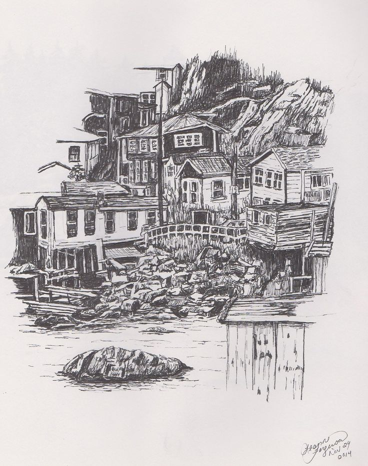 town on sea