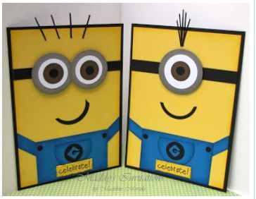 Inspiration: Minion Cards!  Too cute #Minions #DespicableMe #MinionCards