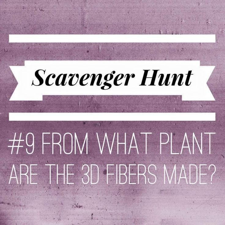 Online party game for Younique presenters. Scavenger hunt question 9 from what plant are the 3D fibers made?