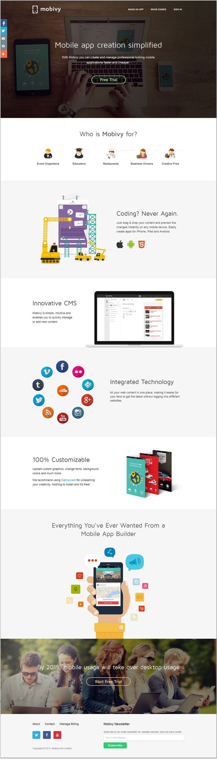 Unique Web Design, Mobivy #WebDesign #Design (http://www.pinterest.com/aldenchong/)