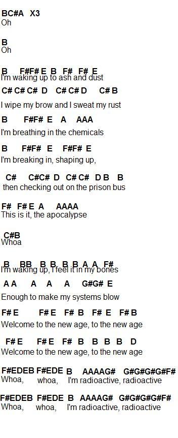 Flute Sheet Music: Radioactive