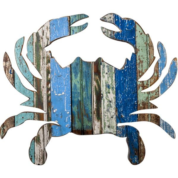 Recycled Crab Wall Art: Beach Decor, Coastal Home Decor, Nautical Decor, Tropical Island Decor & Beach Cottage Furnishings