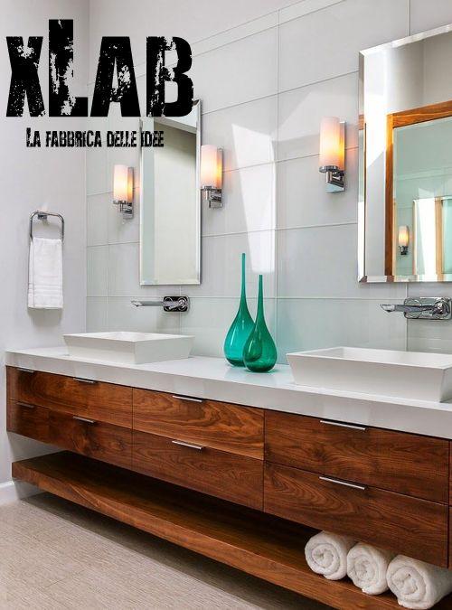 Oltre 1000 idee su arredo piano da bagno su pinterest - Top bagno legno massello ...