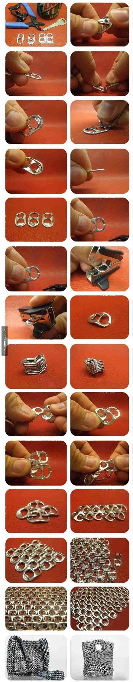 What You Can Accomplish With A Few Ring Pulls - Damn! LOL