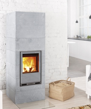 Tulikivi Hiisi 2 is a soapstone masonry heater which can burn either wood or pellet.