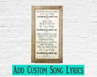 Wedding song lyrics – Etsy
