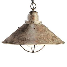 """Inspired by the warmly weathered charm of a coastal village, this charming design lights your foyer, dining room, or living room in lovely seaside style. Product: Pendant Construction Material: Metal Color: Antique bronze Features: 120 Volts UL and CSA listed Extra 124"""" wire included Accommodates: (1) 150 Watt bulb - not included Dimensions: 13"""" H x 16"""" Diameter"""