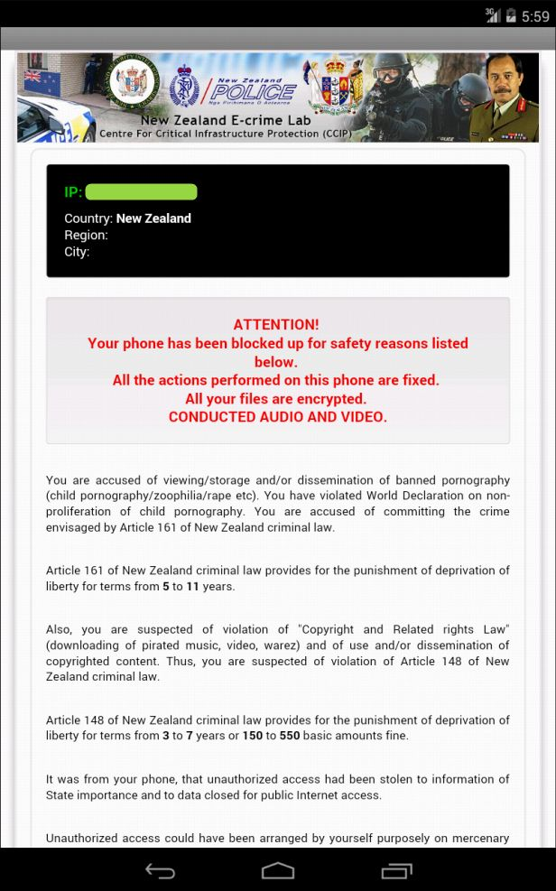 Remove SA Cyber Police Case Virus from Android Phone/Tablet - YooSecurity Removal Guides
