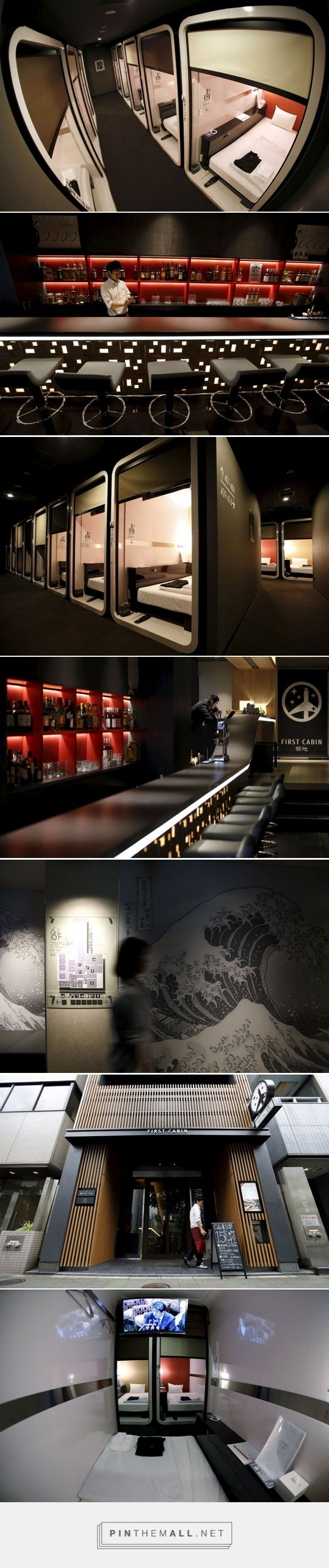 First Cabin Hotel – A Business-Class Capsule Hotel Located In Tokyo Read more at http://designyoutrust.com/2015/07/first-cabin-hotel-a-business-class-capsule-hotel-located-in-tokyo/#ef0f0VbIs42Yjujx.99
