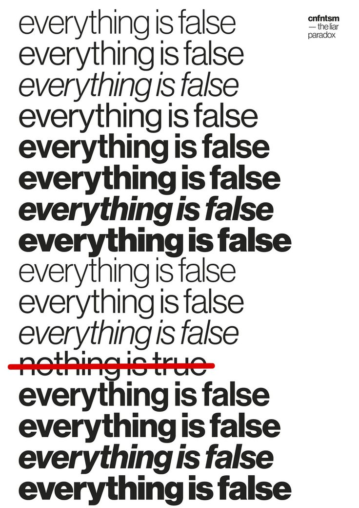 """""""everything is false"""" by mimmo manes / united kingdom, 2017 / 841 x 1189 mm"""