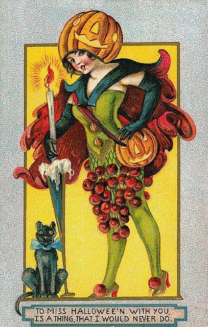 55 best Vintage Halloween Decorations  Postcards images on - halloween decorations vintage