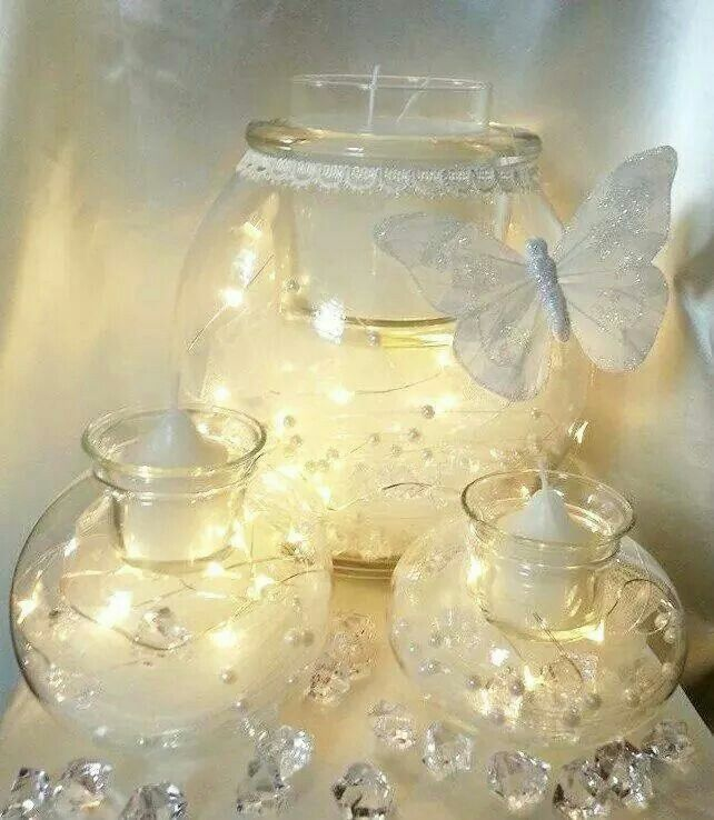 Wedding centerpieces- Partylite's Clearly Creative Trio set!!