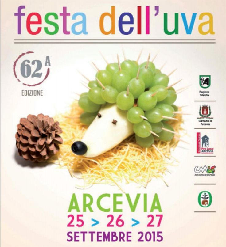 "Each hedgehog... an event! In the City of Arcevia from 25 to 27 Sept. there will be the 62th grape festival .  "" Savor your experience""  #vpitaly #arcevia #marchetourism"
