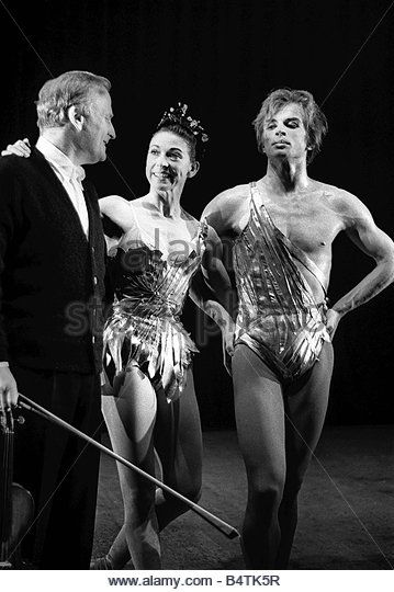 Rudolf Nureyev and Margot Fonteyn seen here in rehearsal the Royal Ballet Entertainment Dance Ballet June 1964 1960s - Stock Image
